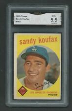 1959 Topps Sandy Koufax Los Angeles Dodgers #163 Baseball Card