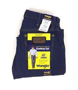 NEW Wrangler Cowboy Cut IRR Bootcut Regular Fit Dark Blue Mens Denim Jeans 30x30