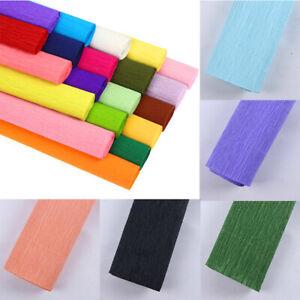 "19 Colours Crepe Paper Roll Sheets Coloured Craft Paper Florist Paper 20""x98"""