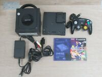 L861 Nintendo Gamecube Official Console Black Japan GC w/Controller adapter game