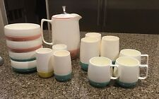 Vintage Dinex Thermoware Pitcher, Cups and Bowl Set