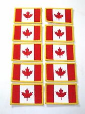 lot of 10 Canadian Flag embroidered Patch Canada maple leaf
