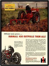 International Harvester Farmall New Metal Sign: Farmall 450 Tractor Featured