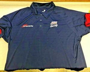 AJ Foyt Racing Garage Sale- AJ Foyt ABC Supply Polo Shirt Blue/Red Trim - 3xl
