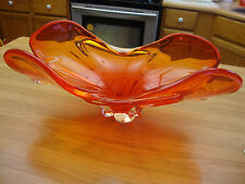 BEAUTIFUL ART RED GLASS BOWL OR  CENTER TABLE DISPLAY