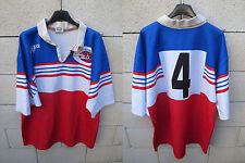 VINTAGE Maillot rugby CAEN porté n°4 FORCE XV match worn shirt colelction XXL
