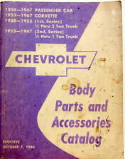 1938-1967 CHEVROLET BODY PARTS AND ACCESSORIES PASSENGER CORVETTE TRUCKS