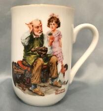 Norman Rockwell Vintage 1982 Porcelain Mug - The Cobbler Coffee Tea Cup Drink