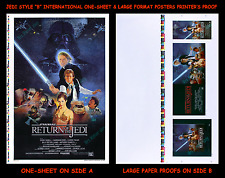STAR WARS Return of the Jedi ☆ 2-SIDED MINT!! ☆ Movie Poster ☆ PRINTER'S PROOFS!