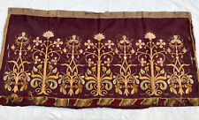 Vintage french Brocade Panel Floral French Wall hanging tapestry