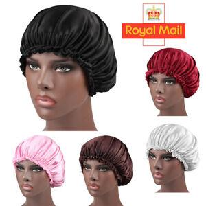 Adjust Elastic Band Silk Night Sleep Cap Hair Bonnet Hat Head Cover Satin Wide
