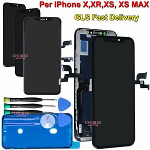 DISPLAY APPLE IPHONE X XR XS MAX 11 PRO LCD VETRO ASSEMBLATO OLED TOUCH SCHERMO