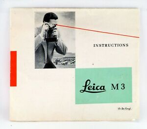 LEICA VINTAGE & RARE ORIGINAL M-3 QUICK REFERENCE 8 PAGE INSTRUCTION SHEET 1959.