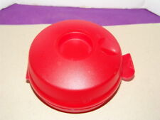 Tupperware Round Sheer Red Sandwich/Bagel/Salad/Fruit Keeper Container 4440-EUC