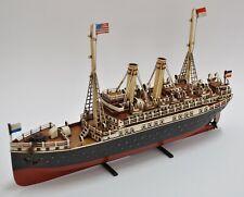1915 German Tin Tuna Boat Model Ship Model Sailboat 1:20 Scale Window Decor Sale