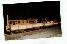 Vintage Railroad Train Post Card East Troy Electric RR Santa Parade Train