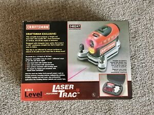 *NEW*🎄Craftsman 4-in-1 Laser Trac Level with Zippered Case & Accs MDL 948247🎁