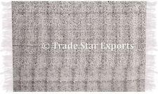 Indian Hand Block Print Rug Hand Loomed Floor Mat Throw Large 4X6 Runner Carpet