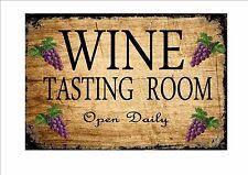 Signo de viñedo vino, Cartel Señal Pub Bar Cocina Sign Pared Letrero Vintage signo de vino