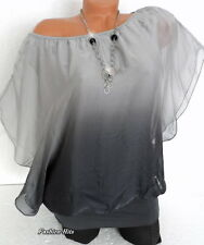Italy Tunika Bluse Shirt Blusenshirt Farbverlauf mit Untertop M L XL 38 40 42