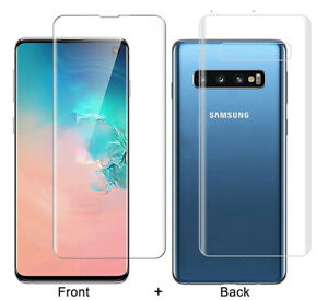Front + Back Screen Protector For SAMSUNG Note 20 5G S10e S21 Plus Hydrogel Film