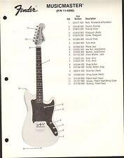 VINTAGE AD SHEET #3615 - FENDER GUITAR PARTS LIST - MUSICMASTER 11-4500