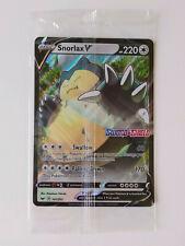 Snorlax V 141/202 jumbo Pokémon Sword & Shield Promo card STAMP