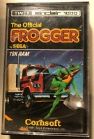 1981 Timex Sinclair 1000 Frogger Cassette Video Game by Sega  Cornsoft