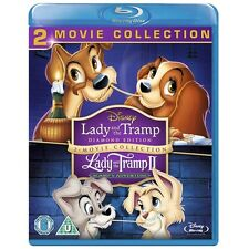 LADY AND THE TRAMP 1 AND 2 - BLU RAY - NEW - DISNEY