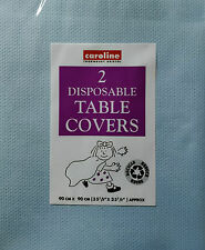 Paper Tablecloth Pack 2 Disposable Party Table Covers Blue 3ft x 3ft Caroline