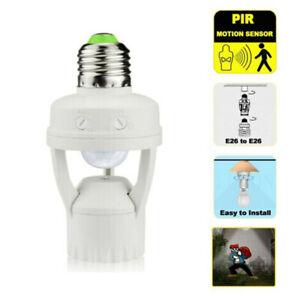 E27 Infrared PIR Motion Sensor LED Light Lamp Bulb Holder Socket Switch Adapter