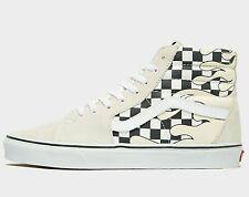 Authentic Vans Sk8-Hi Checks Pattern ® ( Men UK 7.5 & 9.5 ) Off White / Black