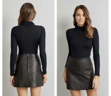Kookai New Jersey Leather Skirt - 40