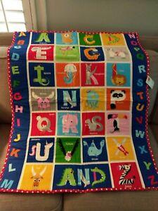 NEW, Child's ABC quilt