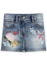 -40% MONNALISA Jeans Rock Gr. 104/4Y bestickt~Wi 19/20~NP 114€~NEW