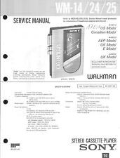 Sony Original Service Manual für WM-14 / 24 /25