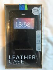 Apple iPhone 6 Jet Black Case Premium Genuine Leather With Xtra Features