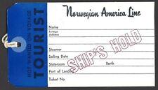 Norvegian American Line vintage Luggage Tag Ӝ