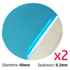 x2 Plaque Métal Téléphone Pad Adhésif pour Aimant Voiture Support Smartphone GPS