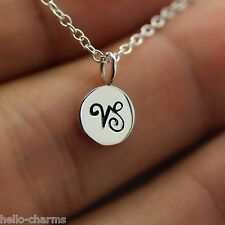 CAPRICORN NECKLACE - 925 Sterling Silver - Tiny Horoscope Zodiac Charm Jewelry