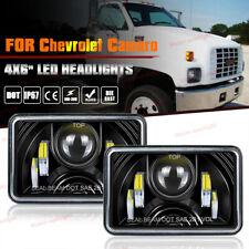 For Chevrolet C4500 C5500 C6500 C7500 Kodiak LED Headlights 4x6'' Hi/Lo Sealed