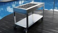 BBQ Luxurious Mobile Stainless Steel Frame And Grill Exterior Portable Charcoal