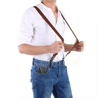 Mens Womens Clip-on Suspenders Elastic Y-Shape / X-Back Adjustable Braces WD