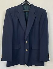 David Taylor Mens Blazer Blue Two Gold Button Wool Jacket Nicaragua Size 44L