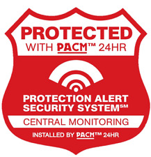 9 Real Home Security Alarm System Stickers & 2 Security Camera Decals