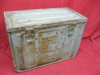 Vintage WWII Ammunition Metal Box Large Working Latches Heavy Duty Steel MK3 #3
