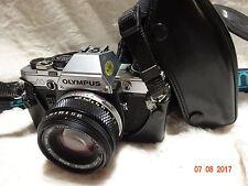 Olympus OM10 Film Camera & Olympus Zuiko 50mm F1.8  Lens auto s zuiko lens case