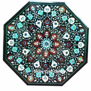 "30"" Marble Coffee Table Top Semi Precious Stones Pietradura Inlay Work Decor"