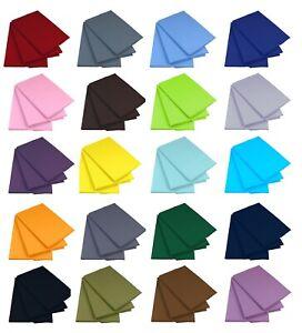 Bettlaken Betttuch ohne Gummizug 160x200 200x220 cm Baumwolle viele Farben