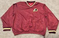 Washington Redskins Jacket Pullover Mens Size Large NFL Pull Over Side Zip